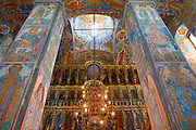 Jaroslawl. Colorful frescoes at Prophet-Elias-Church.