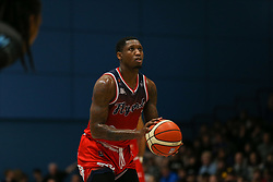 Fred Thomas of Bristol Flyers with a free throw - Photo mandatory by-line: Arron Gent/JMP - 07/12/2019 - BASKETBALL - Surrey Sports Park - Guildford, England - Surrey Scorchers v Bristol Flyers - British Basketball League Championship