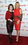 Nancy Brown, left, CEO, American Heart Association, poses with jonoree Dr. Kathy Magliato, cardiothoracic surgeon and AHA board member, at Woman's Day Red Dress Awards, benefitting AHA's Go Red For Women, Tuesday February 9, 2016, in New York. (Photo by Diane Bondareff/Invision for Go Red For Women/AP Images)