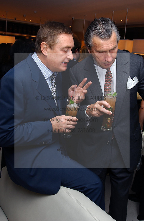 Left to right, PEPPE CIARDI and ARNAUD BAMBERGER at a dinner hosted by Cartier to celebrate the opening of the 2004 Frieze Art Fair, held at Yauacha 15-17 Broadwick Street, London W1 on 13th October 2004.<br /><br />NON EXCLUSIVE - WORLD RIGHTS