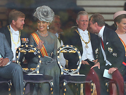 King Willem-Alexander of The Netherlands and Queen Maxima of The Netherlands, King Philippe of Belgium and Henri, Grand Duke of Luxembourg attend the Enthronement Ceremony of Emperor Naruhito at the Imperial Palace in Tokyo, Japan on October 22, 2019. Photo by Robin Utrecht/ABACAPRESS.COM