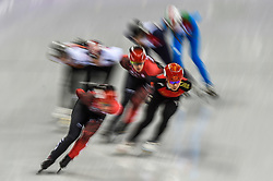 February 17, 2018 - Pyeongchang, Gangwon, South Korea - Han Yutong of  China competing in 1500 meter speed skating for women at Gangneung Ice Arena, Gangneung, South Korea on 17 February 2018. (Credit Image: © Ulrik Pedersen/NurPhoto via ZUMA Press)
