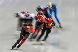 February 17, 2018 - Pyeongchang, Gangwon, South Korea - Han Yutong of China competing in 1500 meter speed skating for women at Gangneung Ice Arena, Gangneung, South Korea on 17 February 2018. (Credit Image: © Ulrik Pedersen/NurPhoto via ZUMA Press)