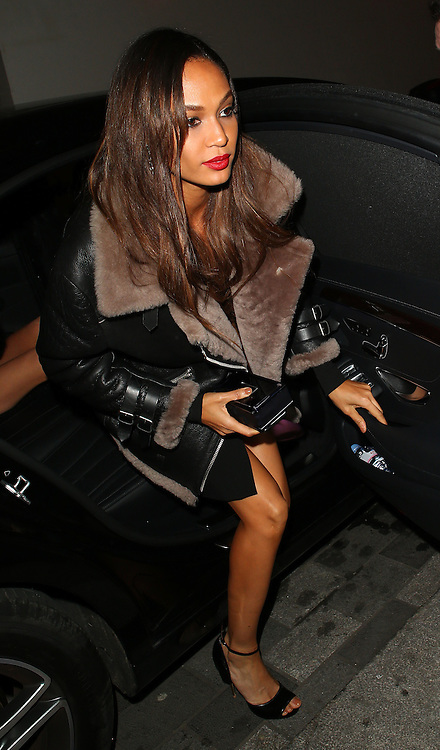 Joan Smalls atttends the British Fashion Awards After Party at Cafe Royal in London, UK. 01/12/2014<br />
