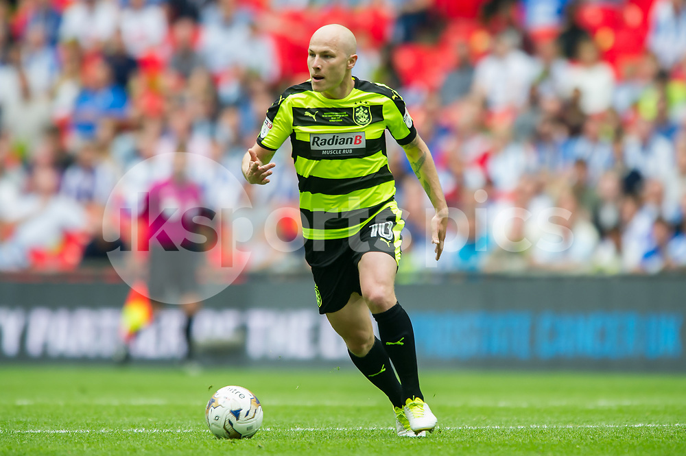 Aaron Mooy of Huddersfield Town during the EFL Sky Bet Championship Play-Off Final match between Huddersfield Town and Reading at Wembley Stadium, London, England on 29 May 2017. Photo by Salvio Calabrese.
