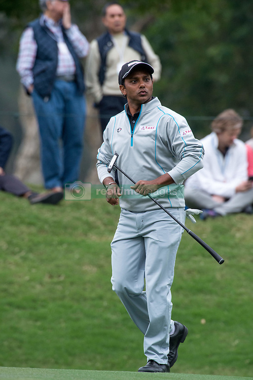 November 25, 2017 - Hong Kong, Hong Kong SAR, CHINA - HONG KONG SAR,CHINA: November 25,2017. Day 3 of the UBS Hong Kong Open Golf at Hong Kong Golf Club Fanling. India's Shiv Shankar Prasad Chawrasia enters the final round on 10 under par. Though his 3rd round was average, he has consistently held the lead.Chawrasia on the 10th green (Credit Image: © Jayne Russell via ZUMA Wire)