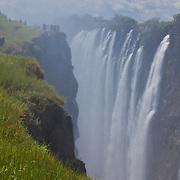 A small slice of Victoria Falls through a telephoto lens. Livingston, Zambia.