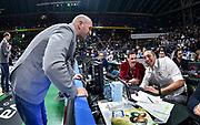 Edi Dembinski, Hugo Sconocchini<br /> Happycasa Brindisi - Pompea Fortitudo Bologna<br /> Semifinale<br /> LBA Legabasket Serie A Final 8 Coppa Italia 2019-2020<br /> Pesaro, 15/02/2020<br /> Foto L.Canu / Ciamillo-Castoria
