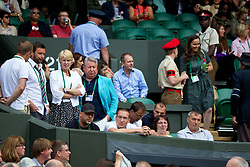 LONDON, ENGLAND - Saturday, July 5, 2014: Petra Kvitova's players' box during the Ladies' Singles Final match on day twelve of the Wimbledon Lawn Tennis Championships at the All England Lawn Tennis and Croquet Club. (Pic by David Rawcliffe/Propaganda)