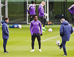 Wilfred Bony pictured training at the training session at The Etihad Campus ahead of the UEFA Champions League clash with FC Barcelona  - Photo mandatory by-line: Matt McNulty/JMP - Mobile: 07966 386802 - 23/02/2015 - SPORT - Football - Manchester - Etihad Stadium