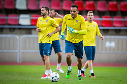 Dejan Milic of NK Domzale during practice session before football match between NK Domzale and FC Lusitanos Andorra in second leg of UEFA Europa league qualifications on July 6, 2016 in Andorra la Vella, Andorra. Photo by Ziga Zupan / Sportida