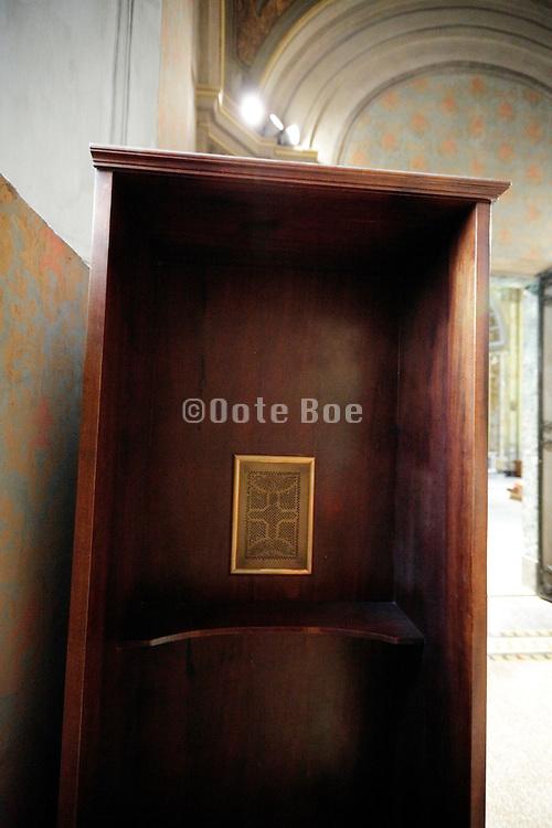 close up confessional