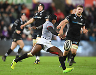 Southern Kings' Masixole Banda<br /> <br /> Photographer Mike Jones/Replay Images<br /> <br /> Guinness PRO14 Round Round 15 - Ospreys v Southern Kings - Friday 16th February 2018 - Liberty Stadium - Swansea<br /> <br /> World Copyright © Replay Images . All rights reserved. info@replayimages.co.uk - http://replayimages.co.uk