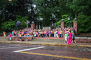 Over 300 women gathered near College Green on Tuesday, June 23, 2015 to participate in the first ever OU Women Portrait.  Photo by Ohio University  /  Rob Hardin