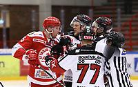 2020-03-07   Ljungby, Sverige: Troja-Ljungby (5) Carl Ernstig i bråk med tre Boden-spelare under matchen i Hockeyettan mellan IF Troja/Ljungby och Bodens HF i Ljungby Arena ( Foto av: Fredrik Sten   Swe Press Photo )<br /> <br /> Nyckelord: Ljungby, Ishockey, Hockeyettan, Ljungby Arena, IF Troja/Ljungby, Bodens HF, fstb200307, playoff, kval