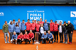 Group photo with Mima Jausovec after Day 3 of tennis tournament Mima Jausovec cup where compete best Slovenian tennis players of the East and West, on June 8, 2020 in RCU Lukovica, Slovenia. Photo by Matic Klansek Velej / Sportida