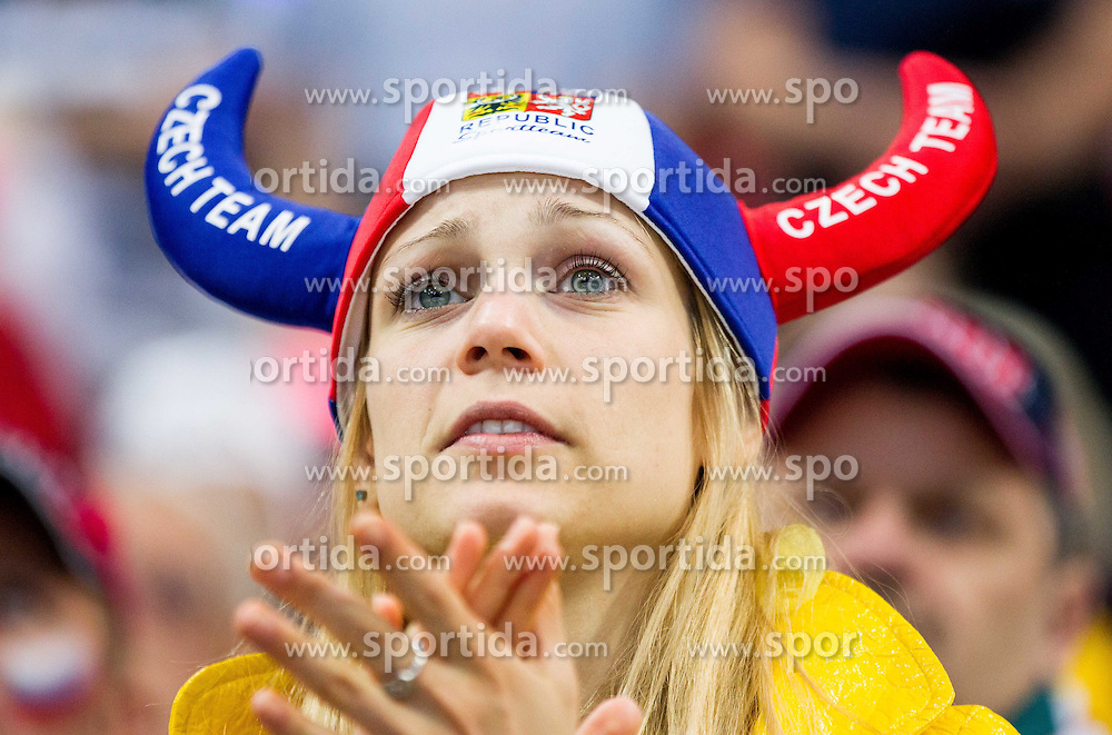 Fan of Czech Team during Ice Hockey match between USA and Czech Republic at Third place game of 2015 IIHF World Championship, on May 17, 2015 in O2 Arena, Prague, Czech Republic. Photo by Vid Ponikvar / Sportida
