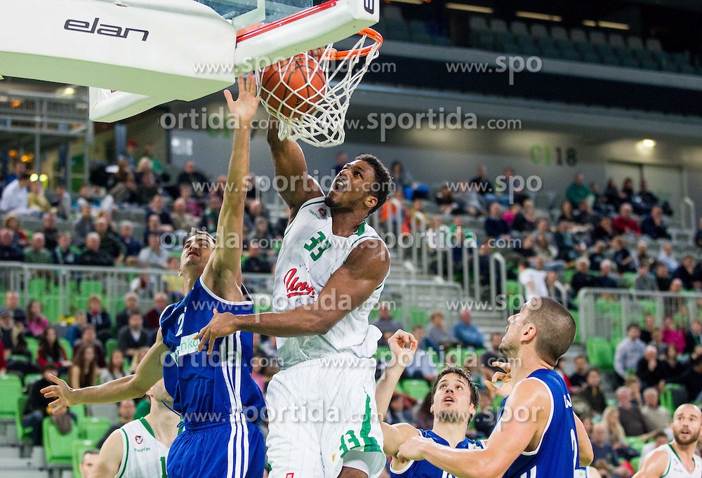 Arthur Alex Stepheson of Union Olimpija during basketball match between KK Union Olimpija and KK Zadar in 13th Round of ABA League 2013/14, on December 22, 2013 in Arena Stozice, Ljubljana, Slovenia.  Photo by Vid Ponikvar / Sportida