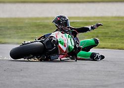 October 26, 2018 - Melbourne, Victoria, Australia - British rider Scott Redding (#45) of April Racing Team Gresini crashes during day 2 of the 2018 Australian MotoGP held at Phillip Island, Australia. (Credit Image: © Theo Karanikos/ZUMA Wire)