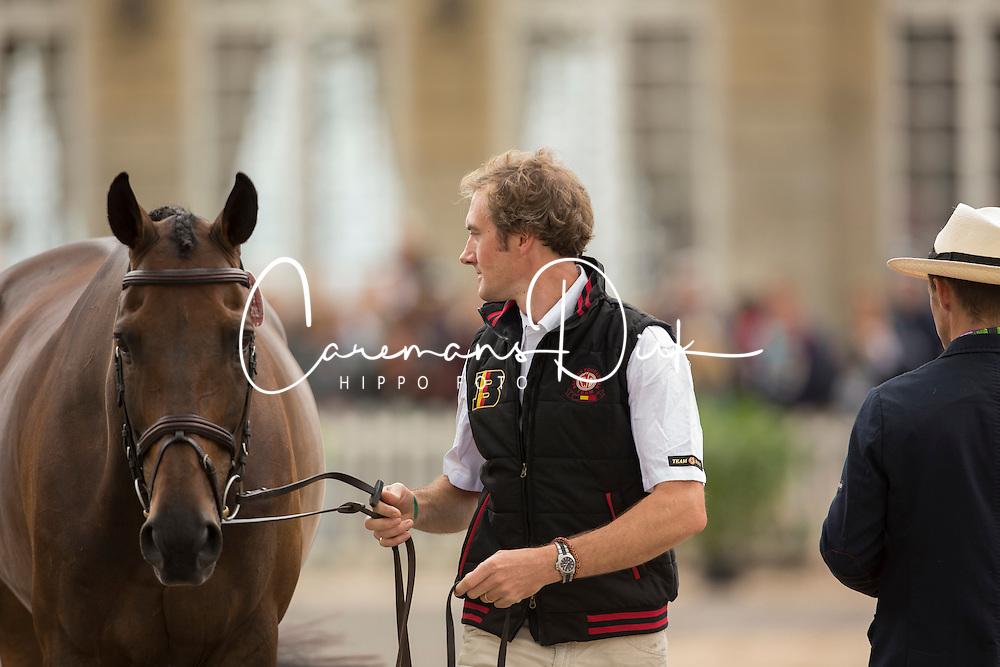 Constantin Van Rijckevorsel, (BEL), Goodwins Reef - First Horse Inspection  - Alltech FEI World Equestrian Games™ 2014 - Normandy, France.<br /> © Hippo Foto Team - Dirk Caremans<br /> 25/06/14