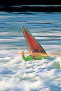 KAYAKING, RIVER RUNNING, MAINE Sheepscot Falls, squirt boat Dave Gatz blurred