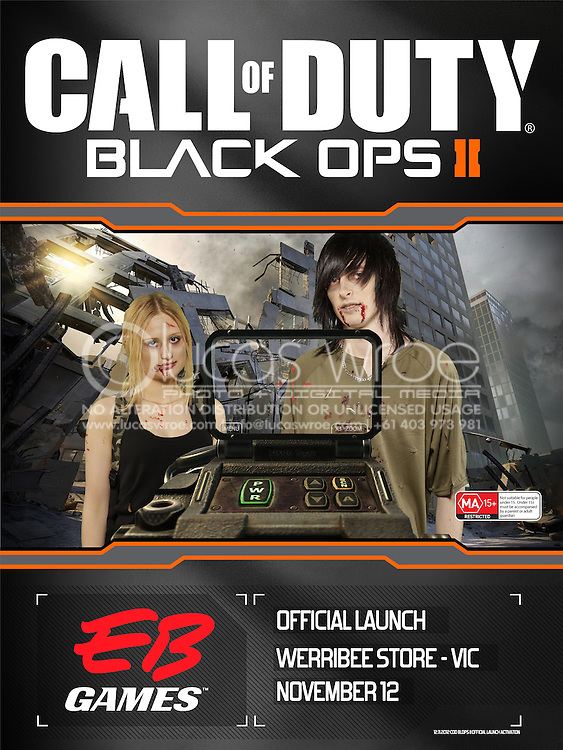 Call Of Duty Black OPS 2. EB Games Green Screen Photography. 2012. On Site Mobile Printing And Green Screen Event Photography By Lucas Wroe