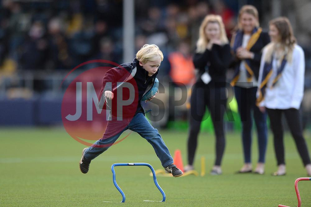 Half time entertainment - Mandatory by-line: Dougie Allward/JMP - 22/10/2016 - RUGBY - Sixways Stadium - Worcester, England - Worcester Warriors v Brive - European Challenge Cup