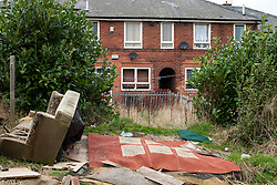 Fly tipping, Wyborne housing estate, Sheffield