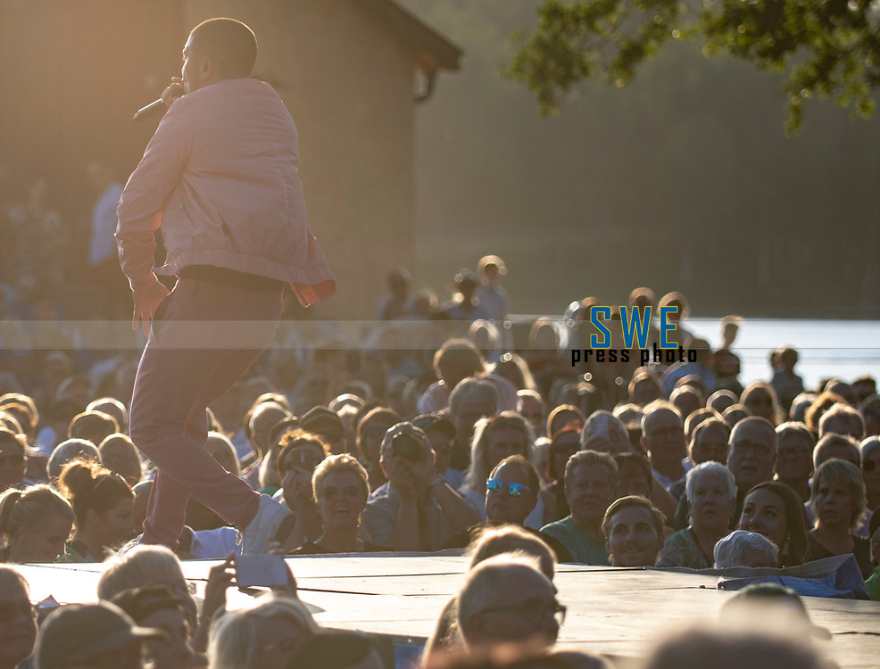 2018-07-06 | Hok, Sweden: Mendez during the Diggiloo show at Hooks Herrg&aring;rd ( Photo by: Marcus Vilson | Swe Press Photo )<br /> <br /> Keywords: Artists, Diggiloo, Show, Singers, Sweden, Tour, Music, Hok, Hooks Herrg&aring;rd, Mendez