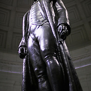 Bronze statue of United States President Thomas Jefferson at the Jefferson Memorial in Washington DC, USA<br />