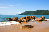beach in the beautiful island of ilha grande near rio de janeiro in brazil