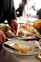 cheese service at Le Grand Vefour, Paris.