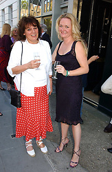 Left to right, MRS JOHN McEWEN and LADY JEMIMA YORKE at a private view of work entitles 'California' by Nigel Waymouth held at the Park Walk Gallery, 20 Park Walk, London SW3 on 12th July 2006.<br />