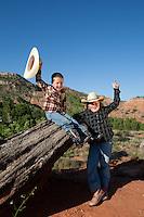 Kids having fun in Palo Duro Canyon