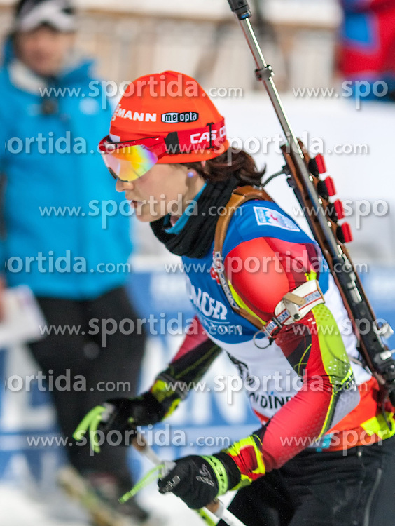 11.01.2013, Chiemgau Arena, Ruhpolding, GER, E.ON IBU Weltcup, Sprint, Damen, im Bild Veronika Vitkova (CZE) // Veronika Vitkova of Czech Republic during Womens sprint of E.ON IBU Biathlon World Cup at the Chiemgau Arena in Ruhpolding, Germany on 2013/01/11. EXPA Pictures © 2013, PhotoCredit: EXPA/ Sven Kiesewetter