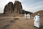Sudanese tourists take pictures in front of the Western Deffufa, once the centre of the city of Kerma, pictured on Friday, March 23, 2007. Kerma was the seat of the first independent kingdom of Kush and the Western Deffufa dates from the earliest Kushite period putting it at over 3,500 years old. Deffufa is a Nubian term meaning mud-brick building and the Western Deffufa is the largest and possibly oldest structure in sub-Saharan Africa...The ancient kingdom of Kush emerged around 2000 BC in the land of Nubia, what is today northern Sudan. At their height the Nubians ruled over ancient Egypt as the 25th Dynasty between 720 BC and 664 BC (known as the Black Pharaohs) and saw their borders reach to edges of Libya and Palestine. The Kushite kings saw themselves as guardians of Egyptian religion and tradition. They centered there kindgom on the Temple of Amun at Napata (modern day Jebel Barkal) and brought back the building of Pyramids in which to inter their kings - there are around 220 pyramids in Sudan, twice the number in Egypt. After Napata was sacked, by a resurgent Egypt, the capital was moved to Meroe where a more indigenous culture developed, Egyptian hieroglyphics made way for a cursive Meroitic script, yet to be deciphered. The Meroitic kingdom eventually fell into decline in the 3rd century AD with the arrival of Christianity.
