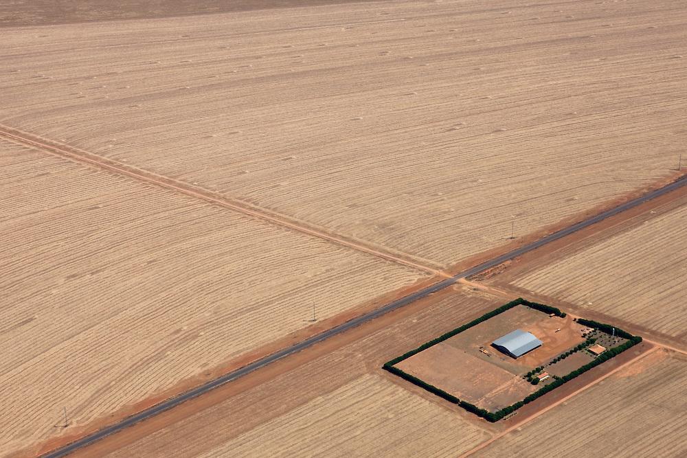 Farmland in what was once Amazon rainforest in Mato Grosso, Brazil, August 9, 2008. Daniel Beltra/Greenpeace