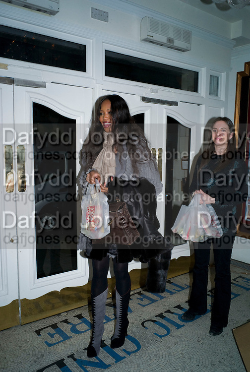 NAOMI CAMPBELL, David Tang and Nick Broomfield host  a reception and screening of Ghosts. On the Fifth anniversary of the Morecambe Bay Tragedy to  benefit the Morecambe Bay Children's Fund. The Electric Cinema. Portobello Rd. London W11. 5 February 2009 *** Local Caption *** -DO NOT ARCHIVE -Copyright Photograph by Dafydd Jones. 248 Clapham Rd. London SW9 0PZ. Tel 0207 820 0771. www.dafjones.com<br /> NAOMI CAMPBELL, David Tang and Nick Broomfield host  a reception and screening of Ghosts. On the Fifth anniversary of the Morecambe Bay Tragedy to  benefit the Morecambe Bay Children's Fund. The Electric Cinema. Portobello Rd. London W11. 5 February 2009