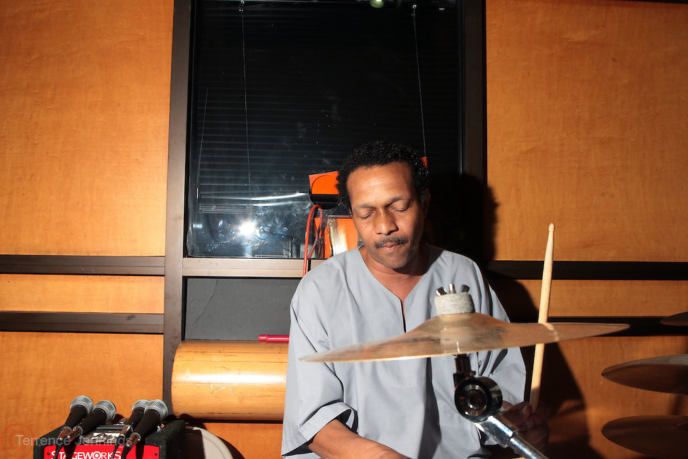21 July 2011- Harlem, NY- Will Fountain, Percussionists at the New York Public Library Schomburg Center for Research in Black Culture Celebration of Director, and Chief of the Schomburg Center, Howard Dodson's Retirement on July 21, 2012 held at the Schomburg Center in Harlem, USA. Photo Credit: Terrence Jennings
