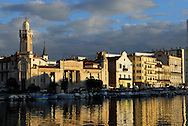 France, Languedoc Roussillon, hérault, Sète, le canal et le Palais consulaire