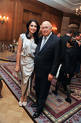 RENU MEHTA and former South African President F W de KLERK at the 4th Fortune Forum Summit held at The Dorchester Hotel, Park Lane, London on 4th December 2012.