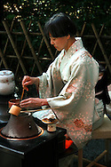 "Japanese Tea Ceremony - What is commonly known in English as the Japanese tea ceremony is called sado or chado ""the way of tea"", or chanoyu literally ""hot water for tea"" in Japanese. It is a traditional activity in which matcha  powdered green tea is ceremonially prepared and served. Zen Buddhism was integral to its development and this influence pervades many aspects of tea ceremony."
