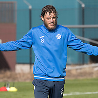 St Johnstone Training….30.09.16<br />Murray Davidson pictured during training this morning<br />Picture by Graeme Hart.<br />Copyright Perthshire Picture Agency<br />Tel: 01738 623350  Mobile: 07990 594431
