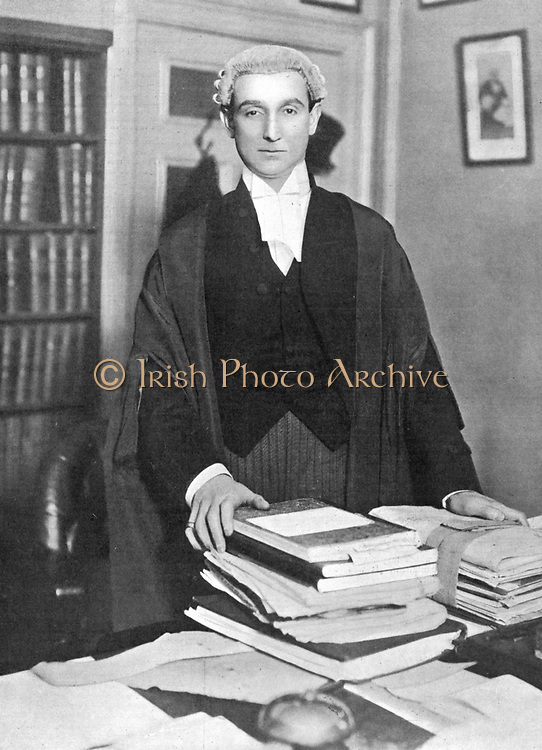 Rufus Daniel Isaacs (1860-1935) Ist Marquess of Reading (1926) British lawyer and statesman. Portrait photograph of Isaacs in chambers published 1902 when he was an eminent K.C., but before he entered Parliament as Liberal member for Reading (1904)
