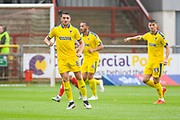 Anthony Hartigan of AFC Wimbledon (8) in action during the EFL Sky Bet League 1 match between Fleetwood Town and AFC Wimbledon at the Highbury Stadium, Fleetwood, England on 10 August 2019.