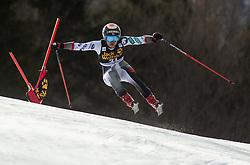 ANDO Asa of Japan competes during the Ladies' GiantSlalom at 56th Golden Fox event at Audi FIS Ski World Cup 2019/20, on February 15, 2020 in Podkoren, Kranjska Gora, Slovenia. Photo by Matic Ritonja / Sportida