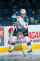 KELOWNA, CANADA - JANUARY 7: Leon Draisaitl #29 of Kelowna Rockets warms up against the Vancouver Giants on January 7, 2015 at Prospera Place in Kelowna, British Columbia, Canada.  (Photo by Marissa Baecker/Shoot the Breeze)  *** Local Caption *** Leon Draisaitl;