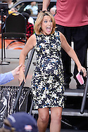 New York City, New York - July 10: Savannah Guthrie and her baby bump at The summer concert series at The TODAY show on July 10, 2014 in New York, New York.