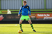 Forest Green Rovers Mark Roberts(21) warming up during the The FA Cup match between Forest Green Rovers and Macclesfield Town at the New Lawn, Forest Green, United Kingdom on 4 November 2017. Photo by Shane Healey.