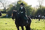 HOLLY BAKER riding waverhead bracken,, Cambridge University Drag hounds meet. Great Gidding, 13 November 2016